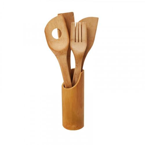 К-кт 4 кухненски прибора в поставка /бамбук/