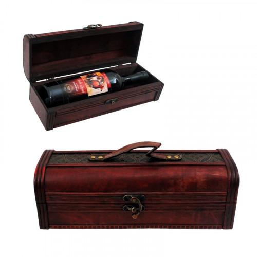Ретро сандък за 1 бутилка вино